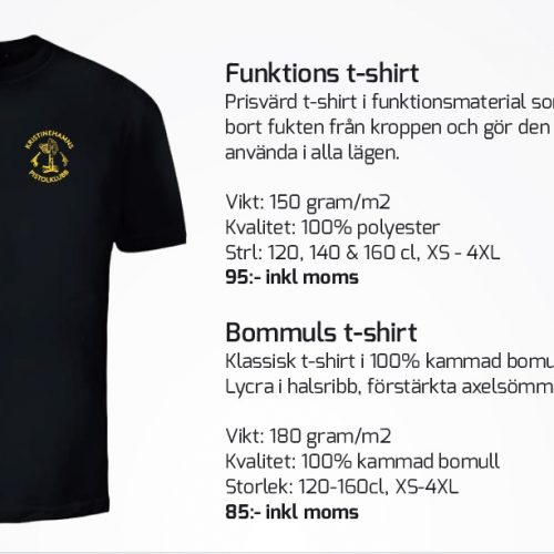 T-Shirt 2st varianter